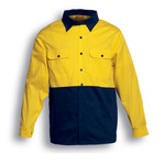 Embroidered - Bocini - Hi-Vis Cotton Twill Shirt Long Sleeve